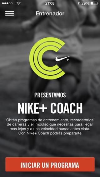 Visión general eje alojamiento  Entrenador personal en la app NIKE+ Running