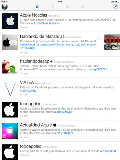 Configurar los botones de Twitterrific