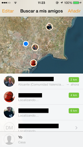 aplicacion para buscar amigos iphone